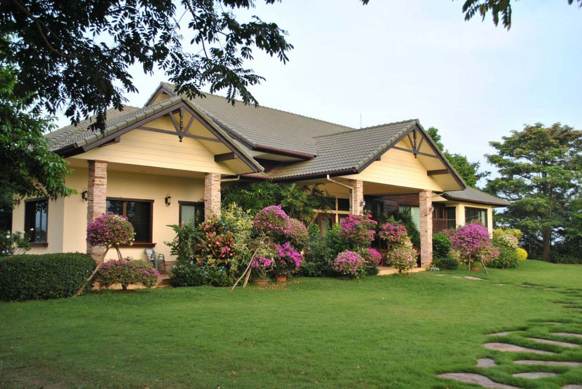 Une belle maison sur un beau jardin